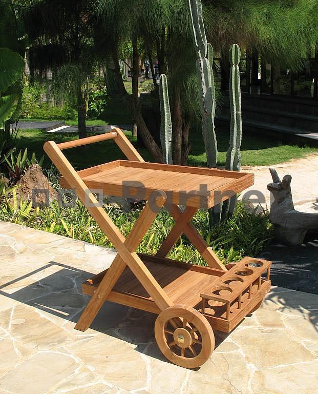 Záhradný servírovací vozík - Deokork - Monte (Teak)