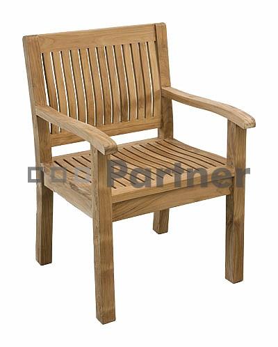 Záhradná stolička - Deokork - Kingsbury (Teak)