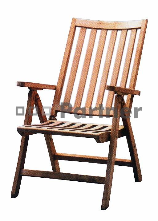 Záhradná stolička - Deokork - Malibu (Teak)
