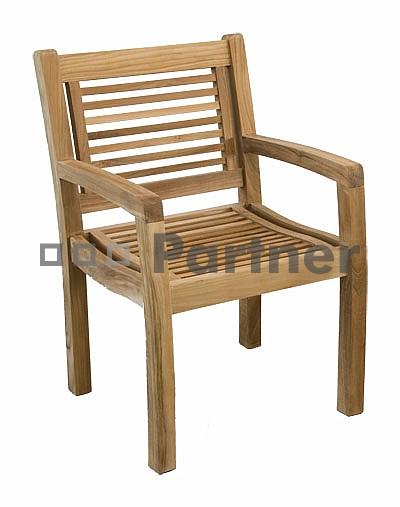 Záhradná stolička - Deokork - Moraine (Teak)