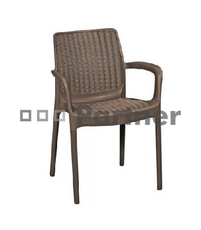 c629d77fab62 Záhradná stolička Santa Fe hnedá (um. ratan)