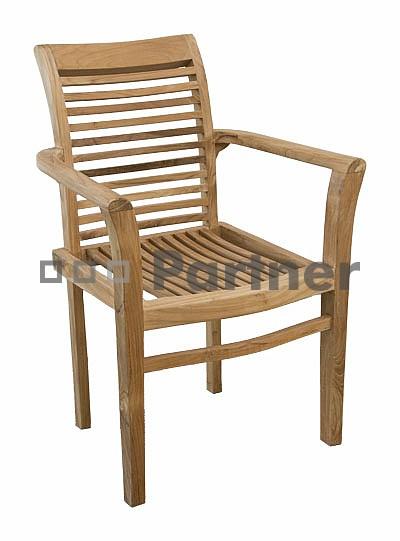 Záhradná stolička - Deokork - New (Teak)