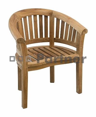 Záhradná stolička - Deokork - Omega (Teak)