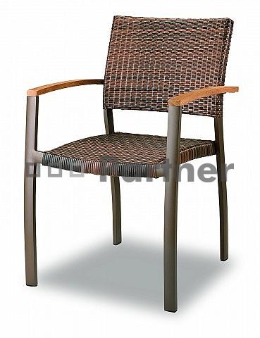Záhradná stolička - Deokork - C88012-WK (Kov)