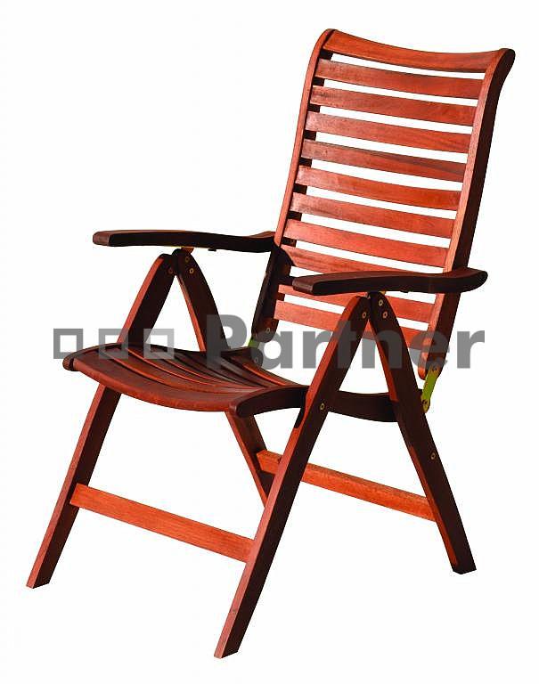 Záhradná stolička - Deokork - Bordeaux (Meranti)