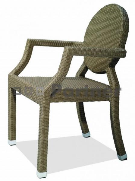 Záhradná stolička - Deokork - C78273-1 (umelý ratan)