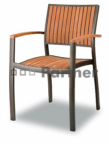 Záhradná stolička - Deokork - C88012-TK (hliník)