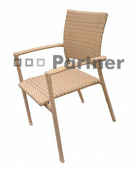 Záhradná stolička - Deokork - C88101 béžová (umelý ratan)