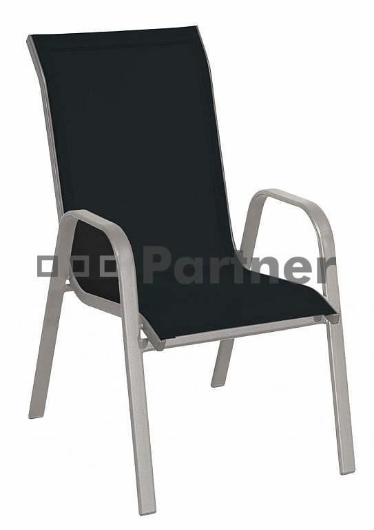 Záhradná stolička - Deokork - Gloria čierna (kov)