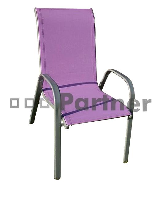 Záhradná stolička - Deokork - Gloria fialová (kov)