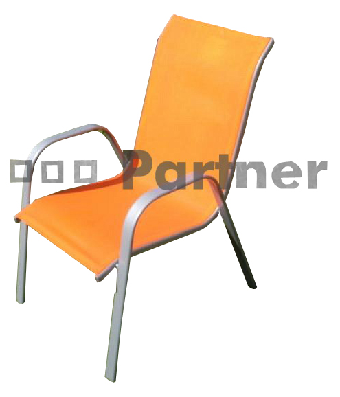 Záhradná stolička - Deokork - Gloria oranžová (kov)