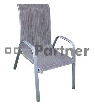 Záhradná stolička - Deokork - Gloria šedá (kov)