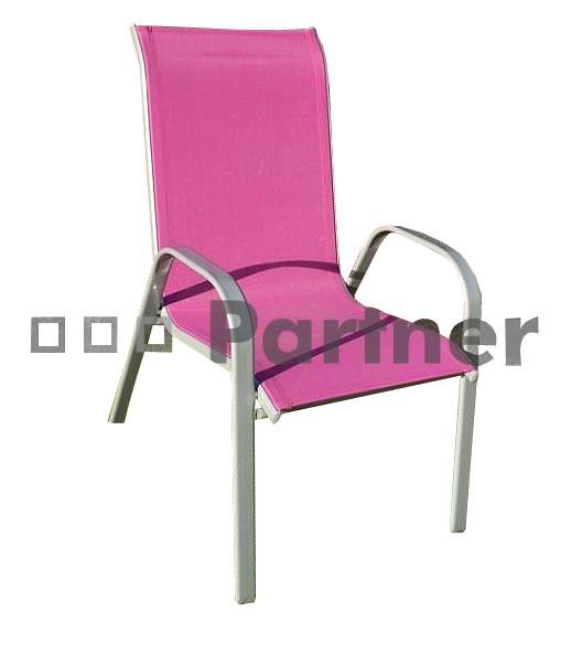 Záhradná stolička - Deokork - Gloria vínová (kov)