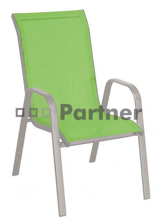 Záhradná stolička - Deokork - Gloria zelená (kov)