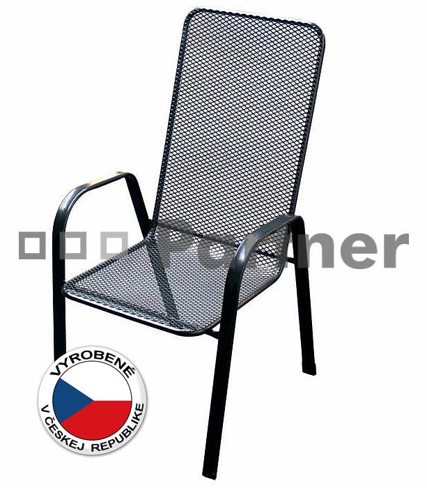 Záhradná stolička - Deokork - Sága vysoká (kov)