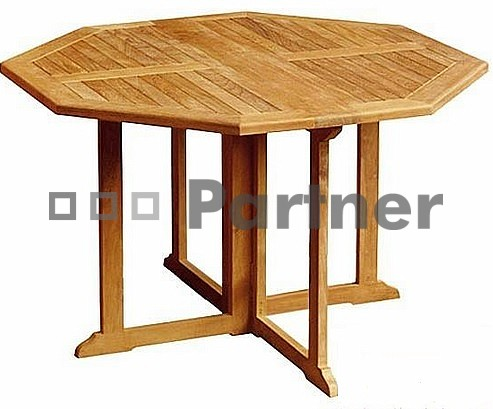 Záhradný stôl - Deokork - Genius 90 (Teak)