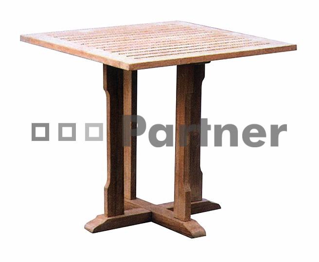 Záhradný stôl - Deokork - Perfect 90 (Teak)