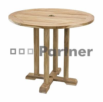 Záhradný stôl - Deokork - Star 90 (Teak)