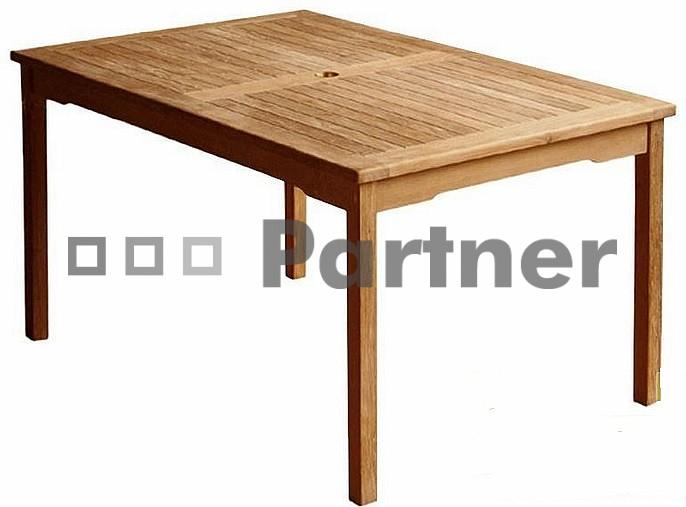 Záhradný stôl - Deokork - Winner 130 (Teak)