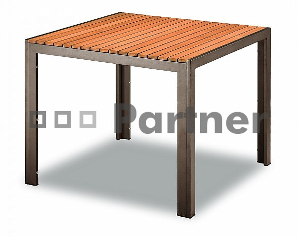 Záhradný stôl - Deokork - TAM 03702 90x90 cm hnedá (Kov)