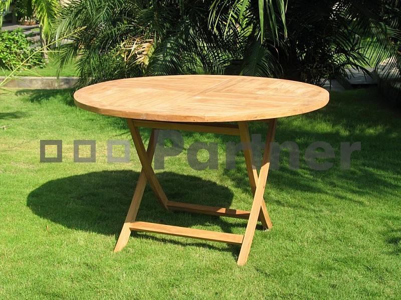 Záhradný stôl - Deokork - Eura (Teak)