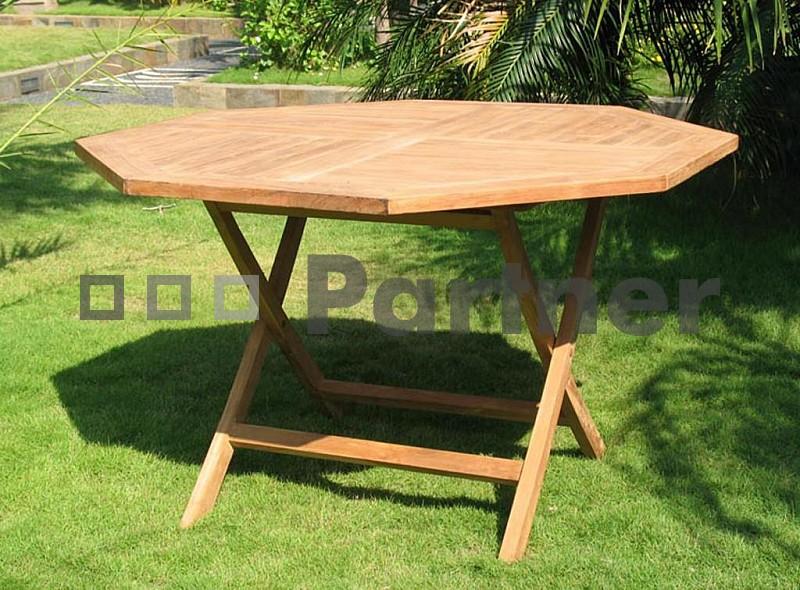 Záhradný stôl - Deokork - Hagen (Teak)
