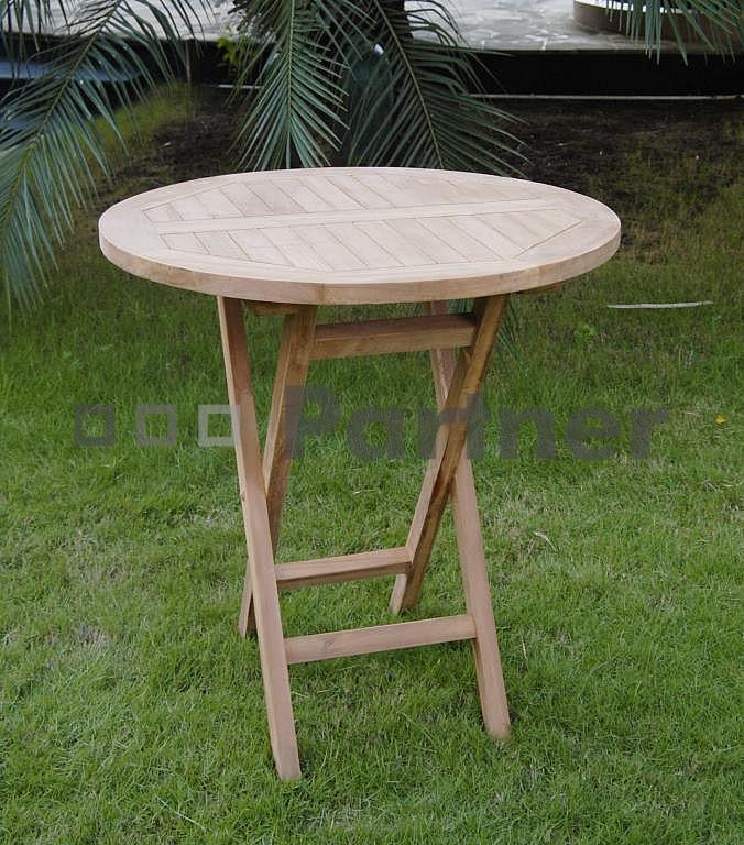 Záhradný stôl - Deokork - Ivory (Teak)