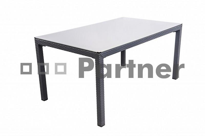 Záhradný stôl - Deokork - Laura antracit (Umelý ratan)