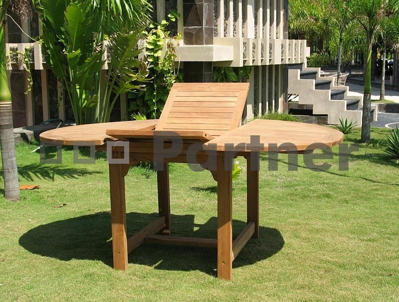 Záhradný stôl - Deokork - Santiago (Teak)