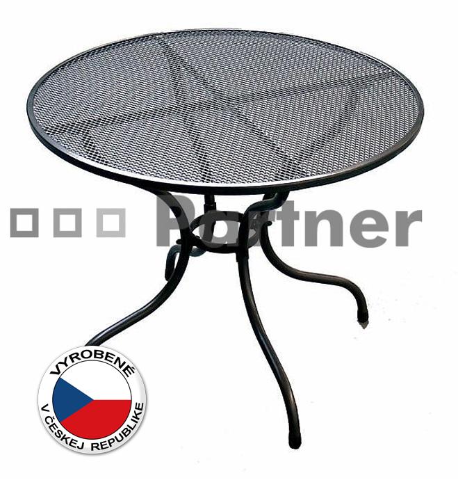 Záhradný stôl - Deokork - okrúhly 105 cm (kov)