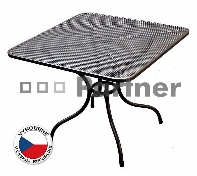 Záhradný stôl - Deokork - 105 x 105 cm (kov)