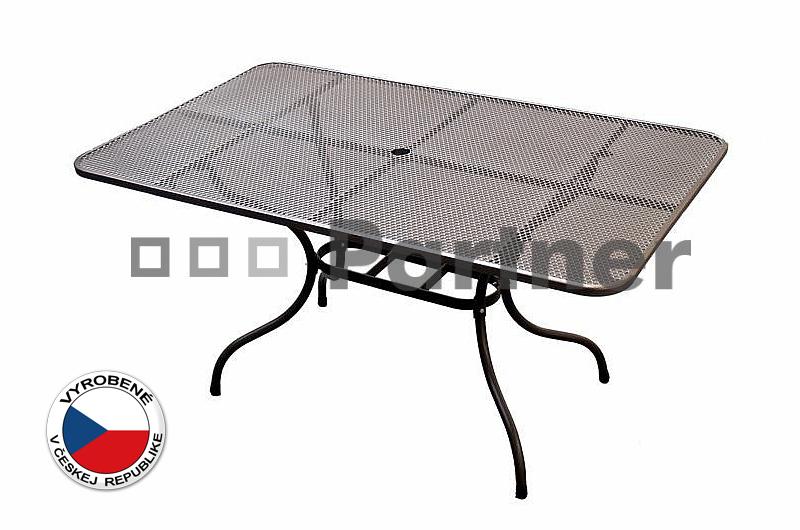 Záhradný stôl - Deokork - 145 x 90 cm (kov)
