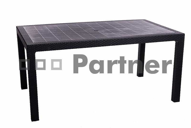 Záhradný stôl - Deokork - Manhattan (umelý ratan)