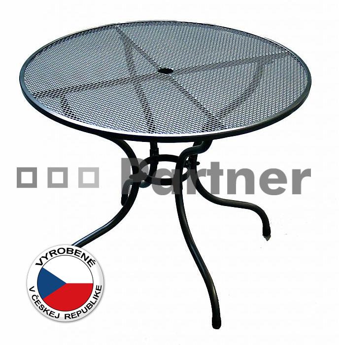 Záhradný stôl - Deokork - okrúhly 90 cm (kov)