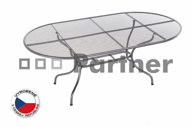 Záhradný stôl - Deokork - oválny 190 x 105 cm (kov)