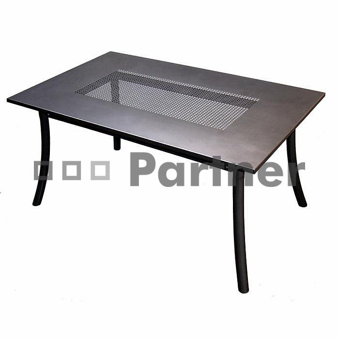 Záhradný stôl - Deokork - PL 145 x 90 cm (kov)