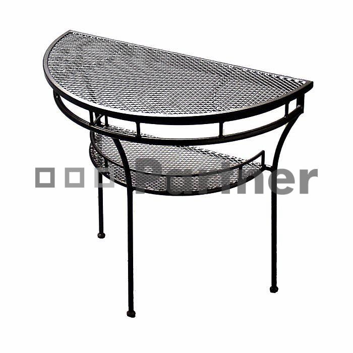 Záhradný stôl - Deokork - polostôl (kov)