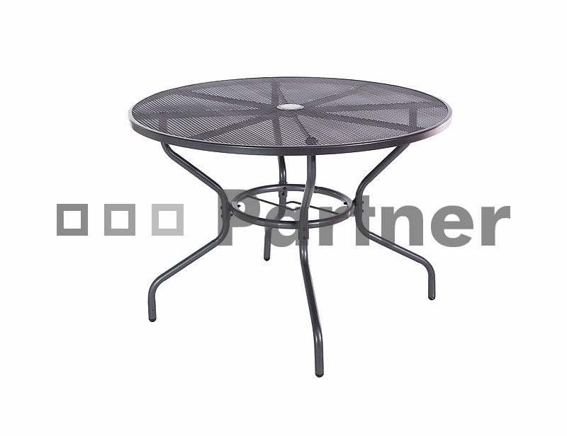 Záhradný stôl - Deokork - Tampa čierna (kov)