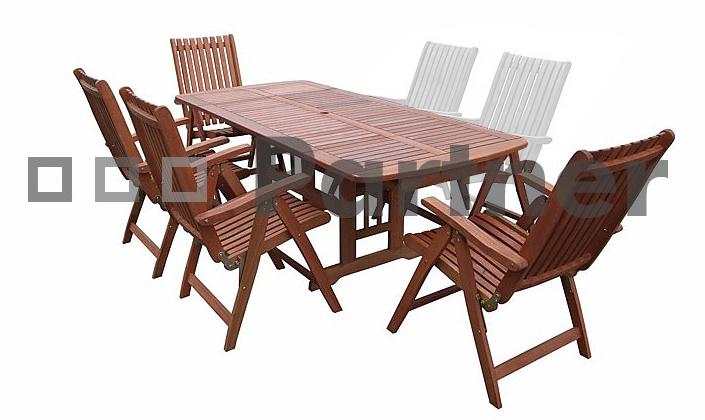 Záhradný nábytok - Deokork - Lyon I. 1+4 (Meranti). Akcia -7%. Doprava ZDARMA. Sme autorizovaný predajca Deokork. Vlastná spoľahlivá doprava až k Vám domov.