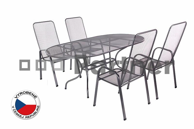 Záhradný nábytok - Deokork - Olivie 1+4 (stôl 190 cm) (kov). Akcia -8%. Doprava ZDARMA. Sme autorizovaný predajca Deokork. Vlastná spoľahlivá doprava až k Vám domov.