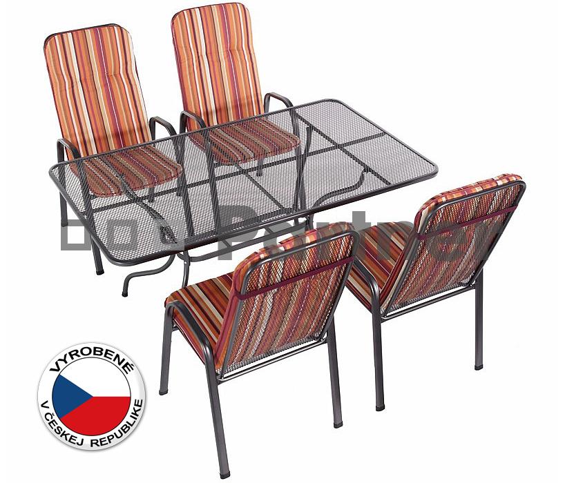 Záhradný nábytok - Deokork - Sandra 1+4 U506 (kov). Akcia -9%. Doprava ZDARMA. Sme autorizovaný predajca Deokork. Vlastná spoľahlivá doprava až k Vám domov.