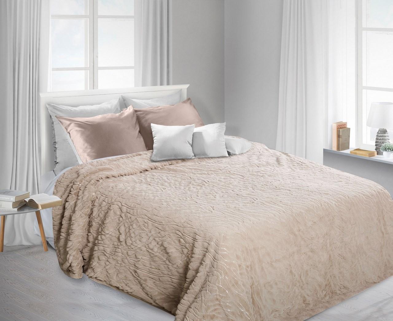 Prehoz na posteľ 240x220 cm - Eurofirany - Lux (béžová). Akcia -22%. Sme autorizovaný predajca Eurofirany. Vlastná spoľahlivá doprava až k Vám domov.