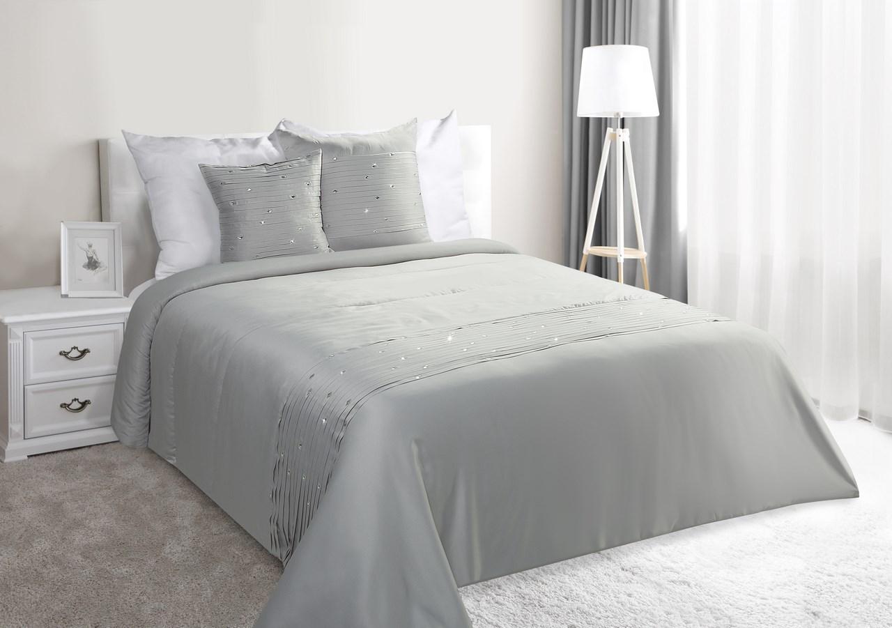 Prehoz na posteľ 240x220 cm - Eurofirany - Crystal (strieborná). Akcia -23%. Sme autorizovaný predajca Eurofirany. Vlastná spoľahlivá doprava až k Vám domov.
