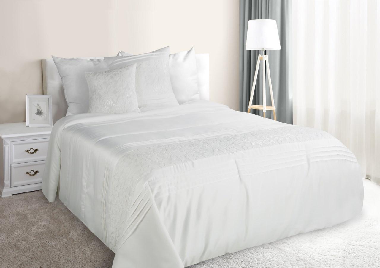 Prehoz na posteľ 240x220 cm - Eurofirany - Perla (krémová). Akcia -33%. Sme autorizovaný predajca Eurofirany. Vlastná spoľahlivá doprava až k Vám domov.