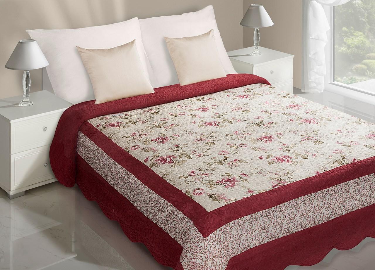 Prehoz na posteľ 240x220 cm - Eurofirany - Amelia (ružová). Akcia -33%. Sme autorizovaný predajca Eurofirany. Vlastná spoľahlivá doprava až k Vám domov.