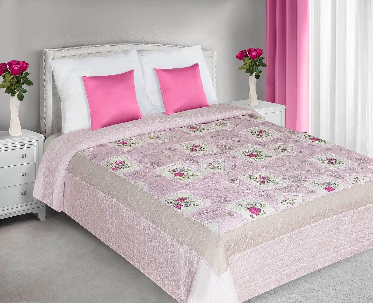 Prehoz na posteľ 240x220 cm - Eurofirany - Ada (ružová). Akcia -32%. Sme autorizovaný predajca Eurofirany. Vlastná spoľahlivá doprava až k Vám domov.