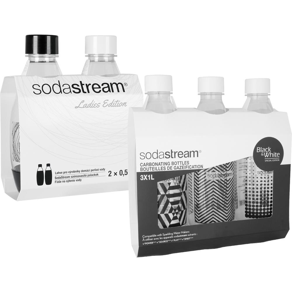 Predajná sada - Fastplus - Sodastream - BW (3+2) sada. Akcia -23%. Vlastná spoľahlivá doprava až k Vám domov.