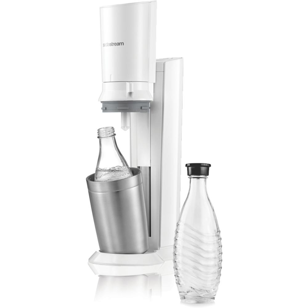Predajná sada - Fastplus - Sodastream - CRYSTAL WHITE + sklenená fľaša. Akcia -26%. Vlastná spoľahlivá doprava až k Vám domov.