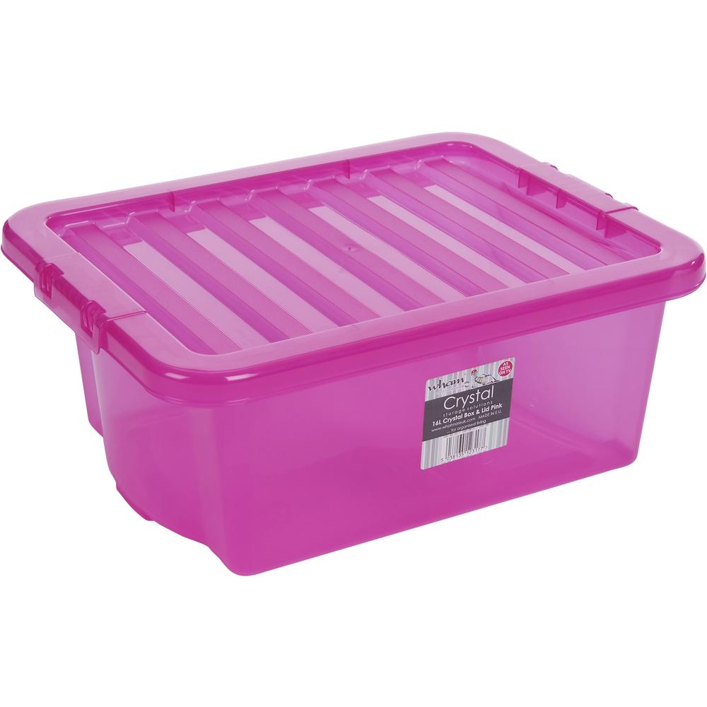 Skladovací box - Fastplus - Wham 16l (ružová). Vlastná spoľahlivá doprava až k Vám domov.