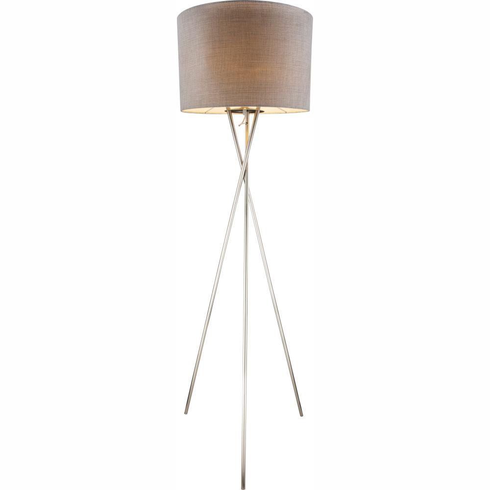 Stojanové svietidlo - Globo - Paco - 15185S1 (klasické) (nikel + sivá). Sme autorizovaný predajca Globo. Vlastná spoľahlivá doprava až k Vám domov.